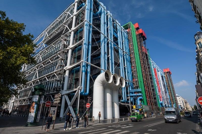 The Centre Pompidou, a stop on our Paris bike tour.