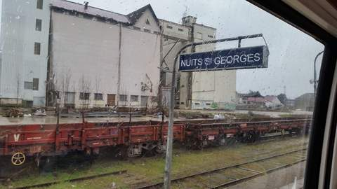 The old rail station at Nuits St. Georges.