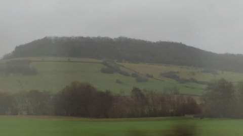 Travel to Burgundy: The French countryside from the TGV train.