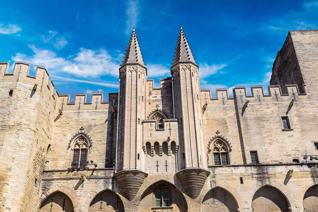 """The """"Pope's Palace"""" in Avignon."""