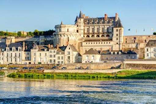 A view of Amboise castle from across the river.