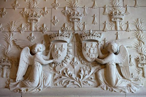 Stone motifs at Amboise castle in the Loire Valley.