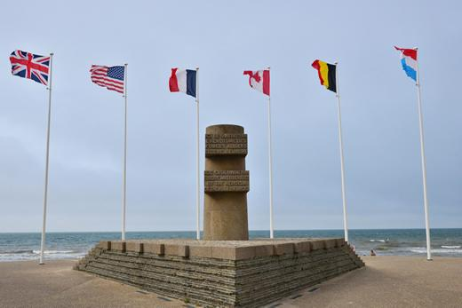 Canadian Normandy D-Day Tour stop: the memorial at Bernieres-sur-Mer.