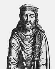 A sketch of Clovis, the Celtic king of France.