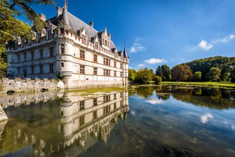 Chateau D'Azay-Le-Rideau castle in the Loire Valley, France.