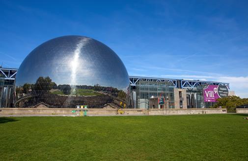 The silver dome at the Cite des Sciences et de l'Industrie