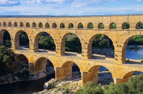 The Pont du Gard in France.
