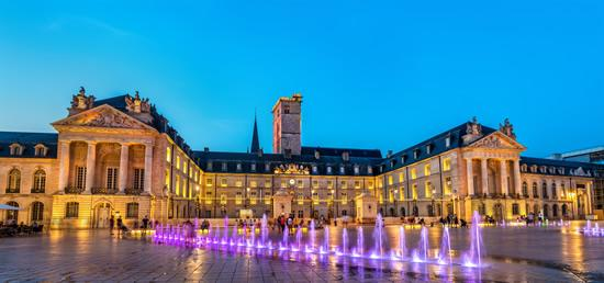 The fountain in front of the Duke's palace in Dijon, France.