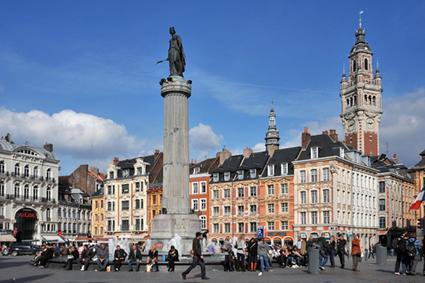 The main square in Lille, France.