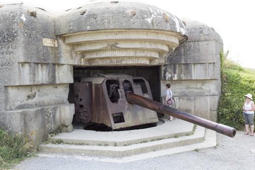 A German gun battery at Longues Sur Mer, France.