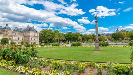 On the border of Saint Germain Des Pres and the Latin Quarter is the Jardins du Luxembourg in Paris.
