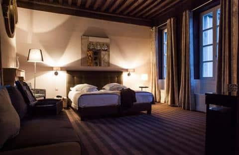 Interior of hotel Maison Phillipe Le Bon in Dijon.