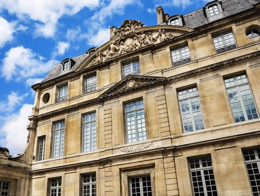 The exterior of the 17th century mansion Aubert-de-Fontenay - Now home to the Musee Picasso.