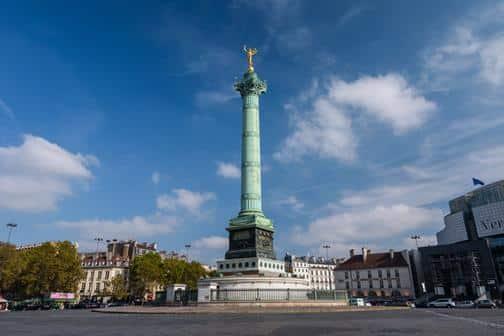The Place de la Bastille column in Paris, France.