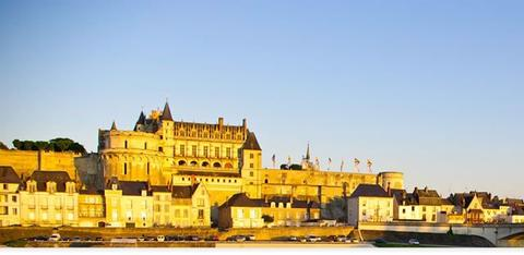 Amboise castle in the Loire Valley, France.