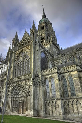 The cathedral in Bayeux, France.