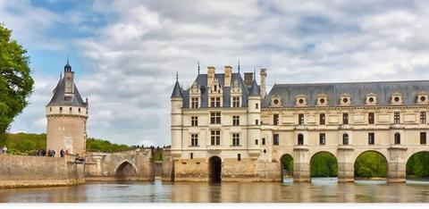 Chenonceau castle in the Loire Valley, France.