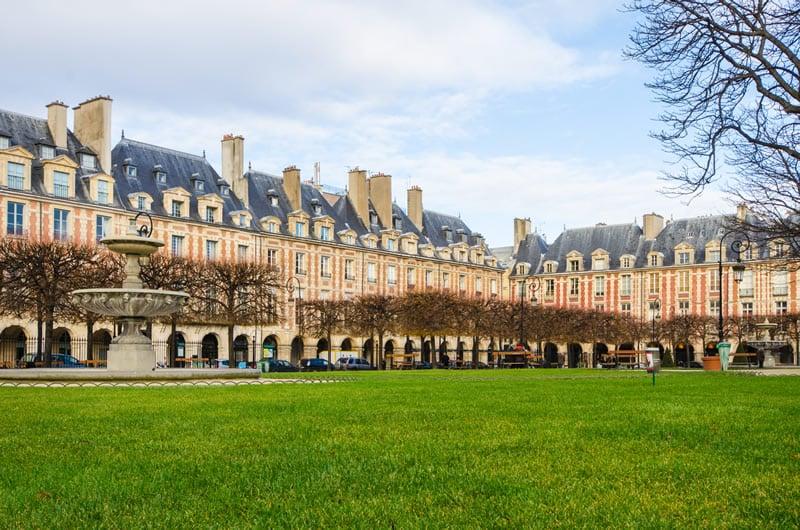 The famous Place des Vosges in Paris