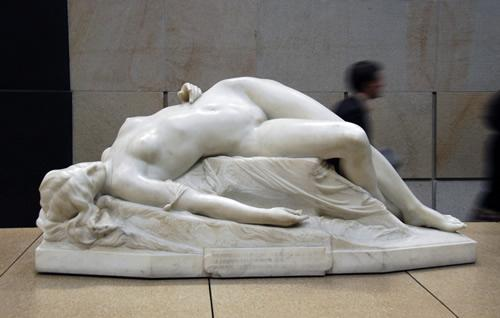 The young Tarentine sculpture at the Musee D'Orsay in Paris.