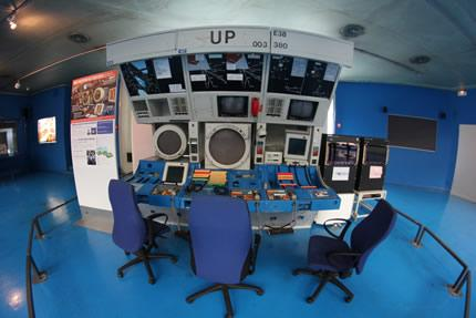 Museum of Aeronautics at Bourget: An old air-traffic controller's console.