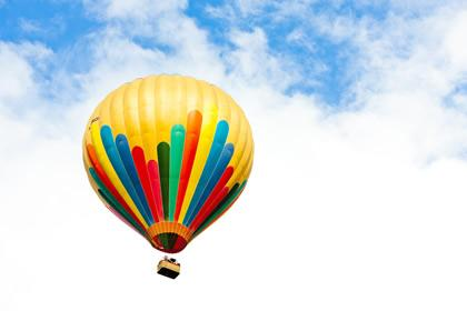 Hot air balloon in the Loire Valley.