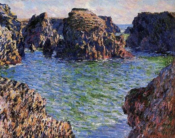 Port Goulphar Belle Ile Brittany by Claude Monet