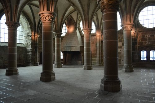 The interior of Mont St. Michel