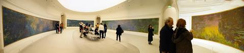 The Monet gallery at the Orangerie Museum in Paris, France.