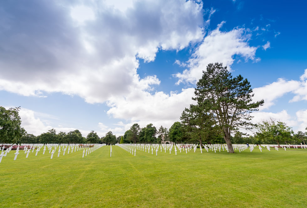 The American Military Cemetery at Colleville-Sur-Mer