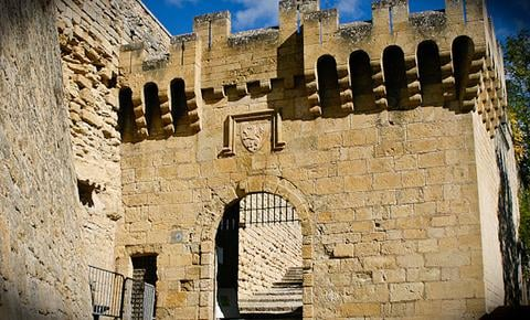 An old castle rampart in Provence, France.