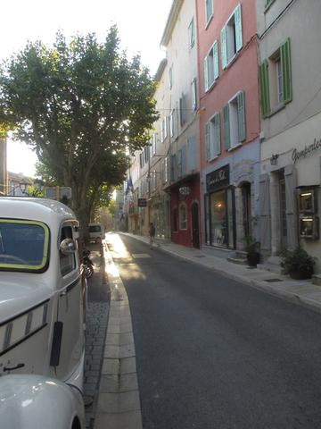 An old car on a street in Nice, France.