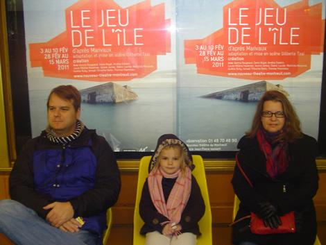 """The """"Royal Tenenbaums"""" picture of us in Paris waiting for the Metro"""