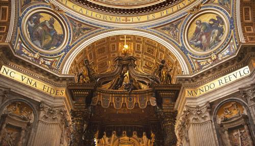 The interior art of Sacre Coeur church in Paris.