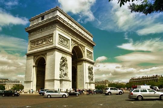 The historic Arc de Triomphe.