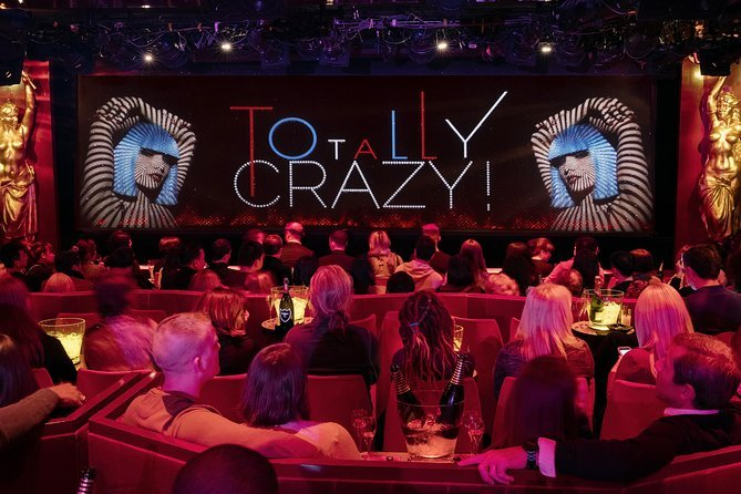 The view of the stage at the Crazy Horse cabaret in Paris.