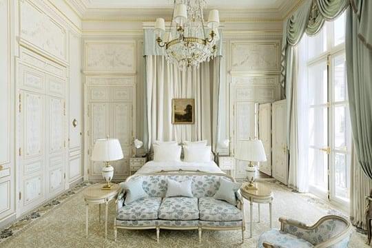 Hotel Ritz bedroom in Paris.