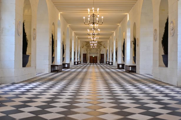 The interior of magical Chenonceau castle in the Loire Valley.