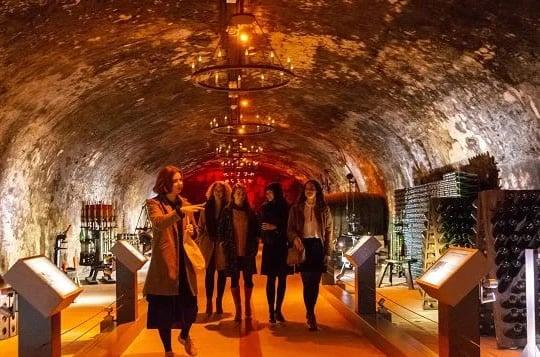 Inside the Mumm Champagne Cellar Tour.