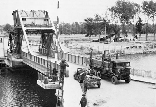 D-Day and Battle of the Bulge Tour: Pegasus Bridge on June 7th, 1944