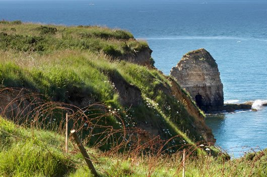The Pointe du Hoc as it stands today.