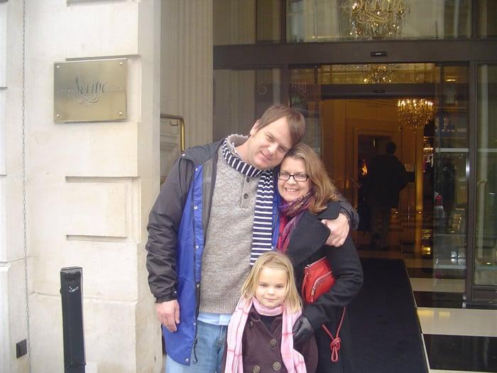 The LinkParis.com Team in Paris more than a few years ago (NOTE: time flies).