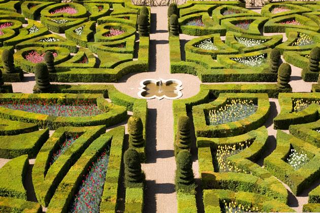 Loire Valley Vouvray Day Trip: The gardens at Villandry in the Loire Valley.