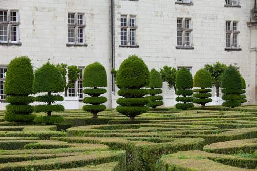 The gardens at Vaux le Vicomte castle in France.